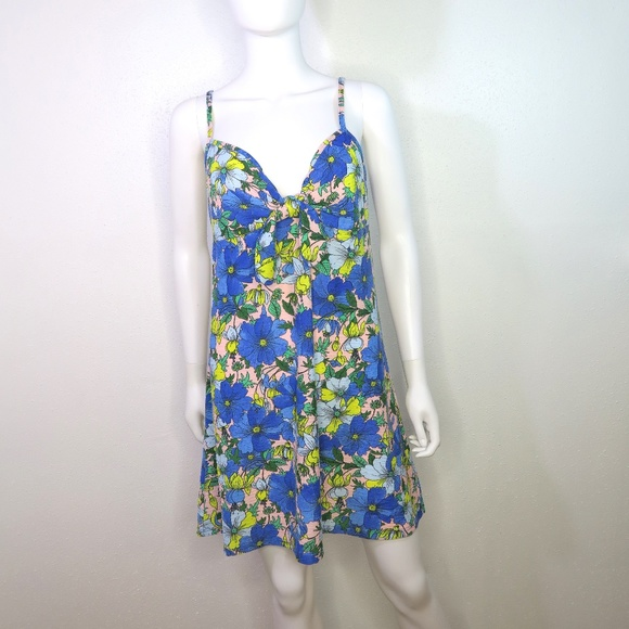 cfbb76645c Topshop Dresses | Floral Knot Front Dress | Poshmark